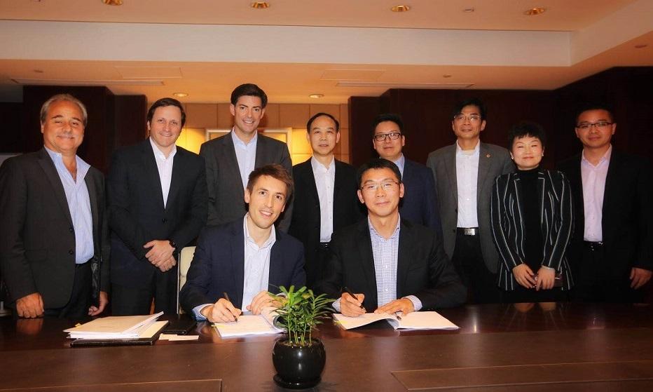江海公司与路易达孚公司举行签约仪式
