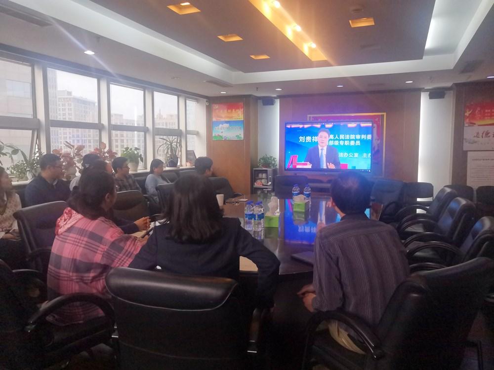 江海公司组织学习民法典专题讲座